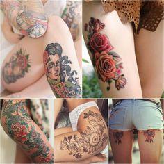 Тату на Бедре Женские | Тату на бедре считается лучшим вариантом для тех, кто выбрал объемный эскиз. Бедро является самой обширной частью ноги, поэтому станет удачным местом для объемных рисунков | Лучшие Тату Идеи и их Значение ☛ https://tattoo-ideas.ru #тату #татунабедре #татуэскизы #татунабедреженское #tattoo
