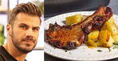 Άκης Πετρετζίκης: Θέλετε να κάνετε μια πολύ νόστιμη συνταγή για λεμονάτες μπριζόλες φούρνου, με τις οδηγίες του Άκη Πετρετζίκη; Greek Recipes, Desert Recipes, Pork Recipes, Keto Recipes, Dinner Recipes, Cooking Recipes, Cooking Ideas, Recipies, Pork Bacon