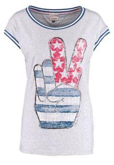 Hilfiger Denim Lou Camiseta Print Grey camisetas y blusas print Lou Hilfiger Grey Denim camiseta Noe.Moda