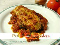 Pollo alla cacciatora un classico della cucina italiana ed io ve lo propongo con una piccola variante, infatti ho aggiunto, alla ricetta, le olive verdi..