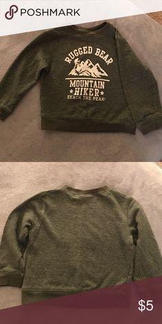 Boys sweatshirt Rugged bear boys sweatshirt the green is like a denim jean style but in dark green color. 100%cotton Baby Gear Shirts & Tops Sweatshirts & Hoodies