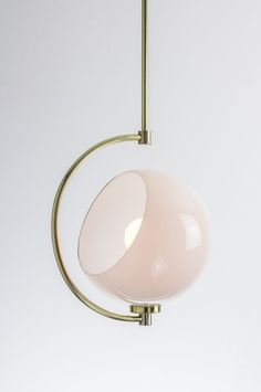 Lighting inspiration | Pendant: White/Brass | Home Decor | Interiors | via @natecotterman