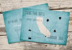 Travel Save the Dates to hand out at shower ---> but with Mexico