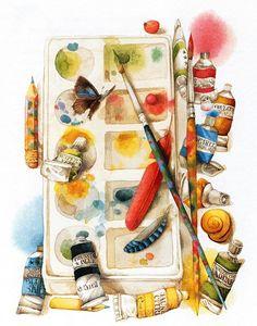 Ahhhh....reminds me of my days working at Connie's Hallmark. Artist Marjolein Bastin