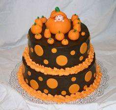 Image detail for -Help! Idea's for Halloween themed baby shower cake please! on Cake . Shower Bebe, Baby Shower Fall, Fall Baby, Bolo Halloween, Halloween Cakes, Halloween Desserts, Halloween Pumpkins, Halloween Ideas, Happy Halloween
