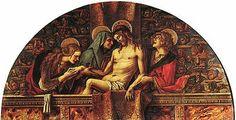 La Pietà della Pinacoteca Vaticana. particolare della Pala di San Pietro di Muralto (o di San Pietro degli Osservanti) è una pala d'altare a tempera e oro su tavola di Carlo Crivelli e bottega, databile al 1488-1489 e oggi smembrata tra musei europei e americani.