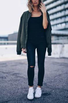 urban street style #bomberjacket #adidas | THE AUGUST DIARIES