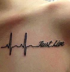 lifeline tattoo with just live words