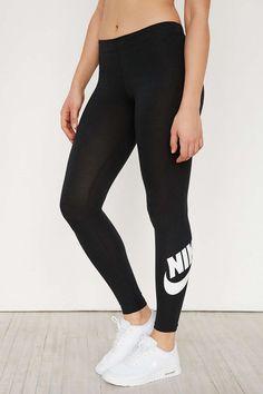 Fitness Women's Clothes - Nike Leg-A-See Logo Legging - Urban Outfitters - nike womens clothing Nike Outfits, Fall Outfits, Summer Outfits, Casual Outfits, Urban Fashion, Teen Fashion, Fashion Trends, Fashion Black, Fashion Women
