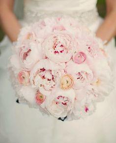 Pink Peony Wedding Bouquet - Kristen Taylor Photography