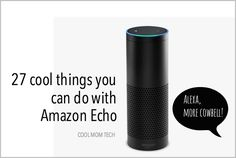 Check out these 27 cool things you can do… Alexa Dot, Alexa Echo, Alexa Tricks, Alexa Commands, Amazon Hacks, Amazon Echo Tips, Make Money On Amazon, Alexa Skills, Cool Mom Picks