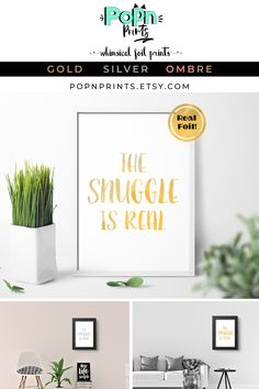 Gold Art Prints for Baby Girl, Cute Quote Prints Bedroom Decor, Snuggle Baby Shower Gift, Cute Wall Art Baby Gift, Baby Boy Nursery Wall Art Funny Prints, Quote Prints, Wall Art Prints, Quirky Art, Quirky Home Decor, Baby Wall Art, Nursery Wall Art, Birthday Gifts For Sister, Foil Art