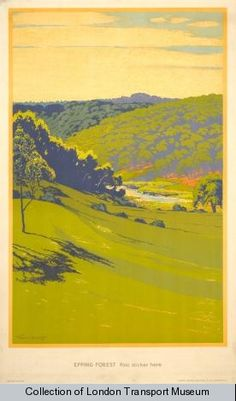 Epping Forest - Walter E Spradbery Posters Uk, Railway Posters, Poster Prints, Vintage Travel Posters, Poster Vintage, Epping Forest, London Transport Museum, National Park Posters, Retro Illustration