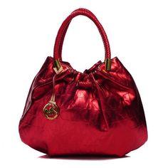 Michael Kors Drawstring Bags Marina Logo Large Red