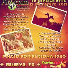 Africam Safari te espera este 12 de agosto http://www.turismoenveracruz.mx/2012/07/africam-safari-te-espera-este-12-de-agosto/