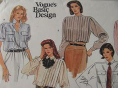 1980's Sewing Pattern  Vogue 1398 Five classic by jennylouvintage