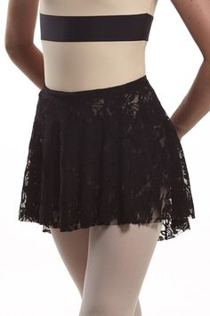 That's A Wrap Skirt - black lace