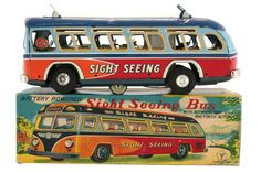 """""""SIGHT SEEING BUS"""" BOXED BATTERY-OPERATED TOY."""