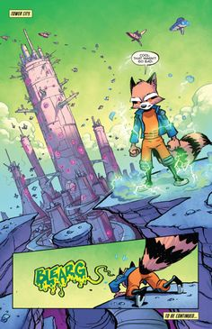 "Comics and nothin' but — Rocket Raccoon v2 #10 - ""Bookends"" (2015) pencil &..."