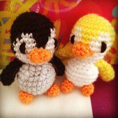 Mini Pingüino Amigurumi | Neusitas.com