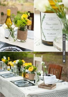 custom wine labels - so cute for your guests. (: | VIA #WEDDINGPINS.NET
