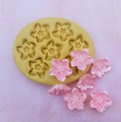 Mini flowers mold flower charm fondant mints flexible | Etsy Fondant Molds, Cake Mold, Soap Molds, Silicone Molds, Tiny Flowers, Handmade Items, Handmade Gifts, Safe Food, Polymer Clay