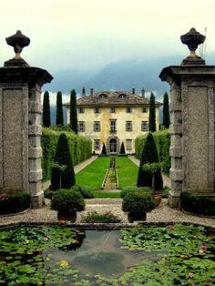 Tuscan formal landscaping