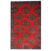 Found it at Wayfair - Semi-Antique Tribal Balouchi Red/Blue Area Rug