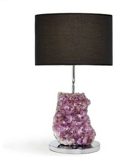Cielo Amethyst Lamp - eclectic - table lamps - Shop Ten 25