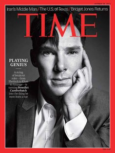 When he was featured on the cover of Time ... | 37 Times In 2013 Benedict Cumberbatch Proved He Was King Of The Internet - hobbit, Star Trek, Sherlock