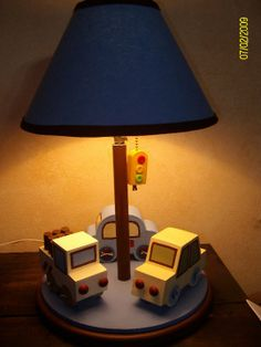 Cars lamp for baby boy room decor based on Lambs Ivy Baby Boy Room Decor, Boys Bedroom Decor, Baby Boy Rooms, Baby Boy Nurseries, Baby Room, Kids Lamps, Wood Ideas, Light Table, Kids Furniture