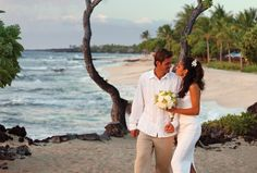 The Wedding Tree at Hualalai is a favourite spot for eloping couples to take their vows.