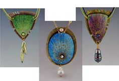 Mary Karg - Colored Pencil Multilayered Metal Pendant - Bead&Button Show