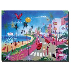 Ocean Drive by Herbet Hofer Painting Print on Wrapped Canvas