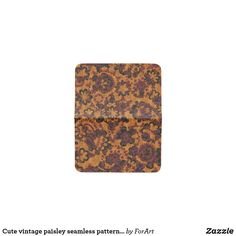 Cute vintage paisley seamless patterns design card holder