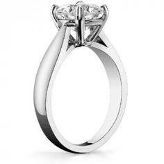 Round Brilliant Cathedral Basket Solitaire Ring : MoissaniteCo.com, Fine Moissanite Rings and Moissanite Jewelry