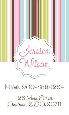 Babysitting business card template from www.printifycards.com