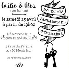 tampon invitation crémaillère à personnaliser caoutchouc tamporelle Carton Invitation, Invitations, Housewarming Party, House Party, House Warming, Creative, Blog, Event Corporate, Silhouette