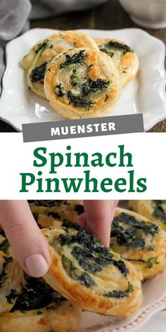 An easy appetizer recipe made with a box of flaky puff pastry, spinach and gooey muenster cheese! They'll be the hit of the party and you won't break a sweet! Puff Pastry Recipes Savory, Easy Puff Pastry Recipe, Spinach Puff Pastry, Puff Pastry Appetizers, Sausage Rolls Puff Pastry, Spinach Puffs Recipe, Spinach Cheese Puffs, Mini Quiche Recipes, Spinach Rolls