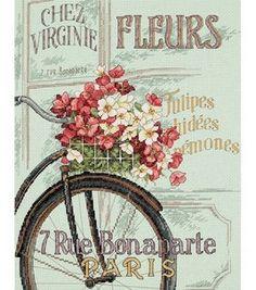 Dimensions Parisian Bicycle Cntd X-Stitch Kit: counted cross stitch kits: cross stitch: yarn & cross stitch: Shop | Joann.com
