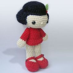 Amigurumi Crochet Pattern - Vicky the Doll. $5.00, via Etsy.