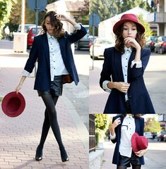 Girl with a raspberry hat (by Beatrice G) http://lookbook.nu/look/4105530-Girl-with-a-raspberry-hat