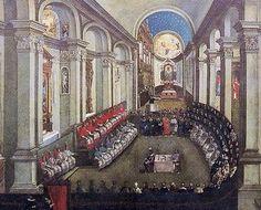 The Council in Santa Maria Maggiore church; Museo Diocesiano Tridentino, Trento