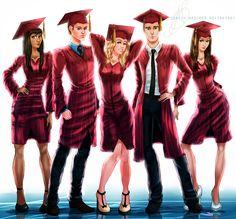 Mystic Falls Graduates by MirRoriel