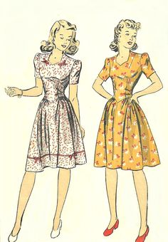 Sweetheart Neckline Fitted Bodice Dress DuBarry 5626 Bust 34 Vintage Dress Pattern by BluetreeSewingStudio on Etsy Vintage Dress Patterns, Dress Sewing Patterns, Clothing Patterns, Pattern Dress, 40s Mode, Retro Mode, Moda Vintage, Vintage Mode, Vintage Outfits