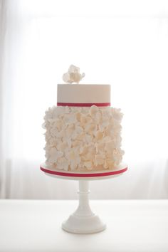 winter white wedding cake; photo: Soul Mates Photography... They design beautiful cakes period.