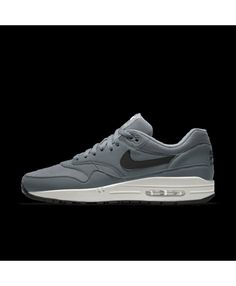 size 40 d5af1 a0409 Nike Air Max 1 Essential Id Grey White Mens Shoes Outlet