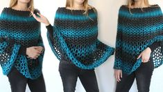 Perfect Gift Poncho By Wilma Westenberg - Free Crochet Pattern - (wilmade) Crochet Wrap Pattern, Crochet Poncho Patterns, Crochet Shawls And Wraps, Crochet Scarves, Crochet Clothes, Crochet Stitches, Crochet Gifts, Free Crochet, Knit Crochet