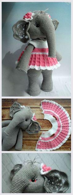 Amigurumi Elephant PDF Tutorial #amigurumi #amigurumipattern #amigurumitutorial #crochettoys #crochet
