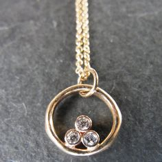 Three Diamond Circle Pendant -- leaning toward this as the winner